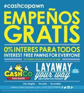 <!--:en-->Layaway & More!<!--:--> @ CashCo Pawn | San Diego | California | United States